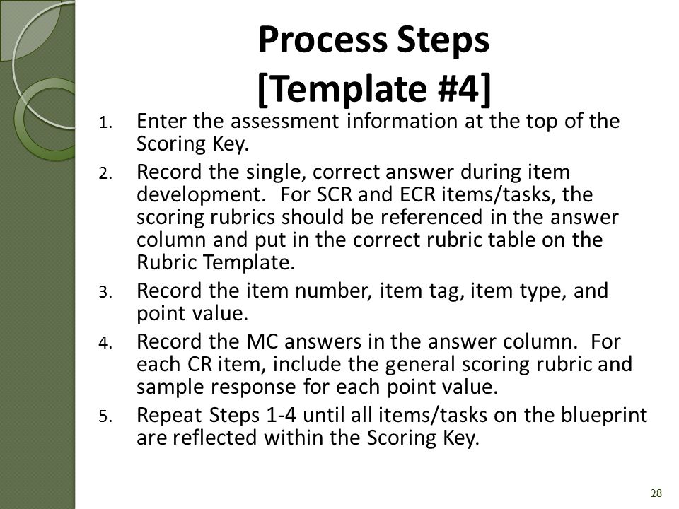 Process Steps [Template #4]